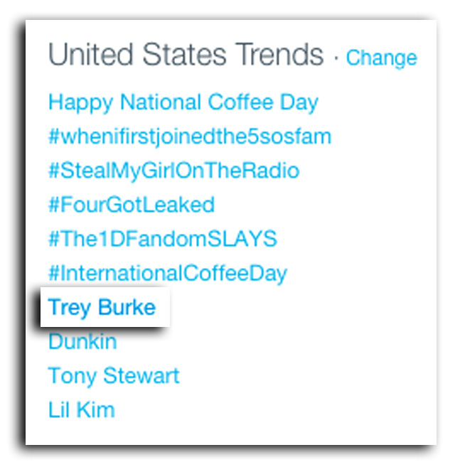 trey burke twitter trend