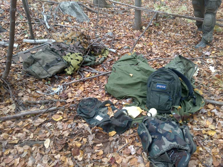 Some of the pipe bombs and other materials found during the search for Frein. (Getty)