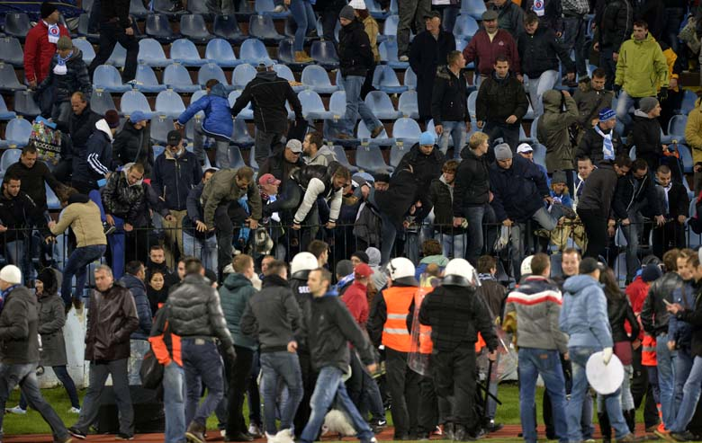 Slovan Bratislava Sparta Prague Riot