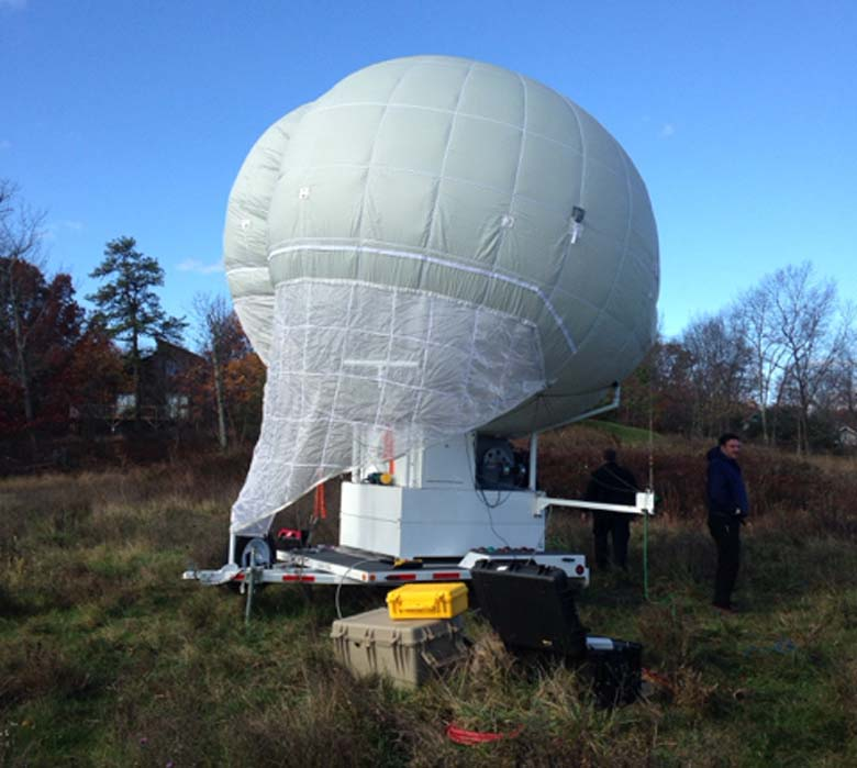 A giant helium balloon was used in the search for Frein, (Getty)