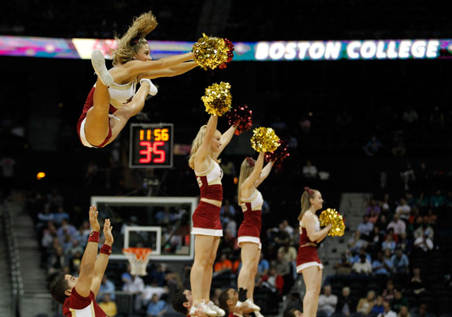 Boston College cheerleaders