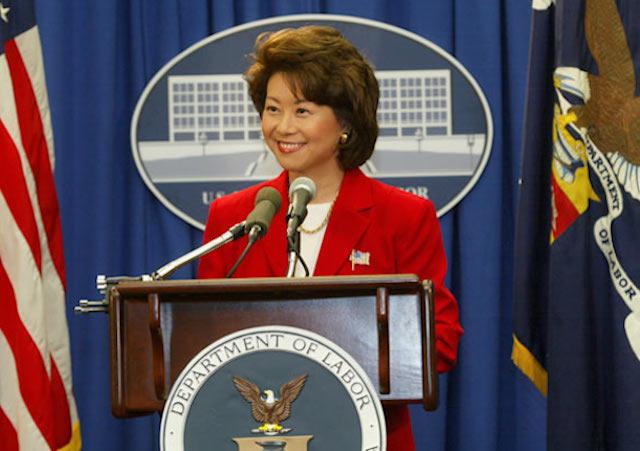 Elaine Chao, Elaine Chao Dept of Labor
