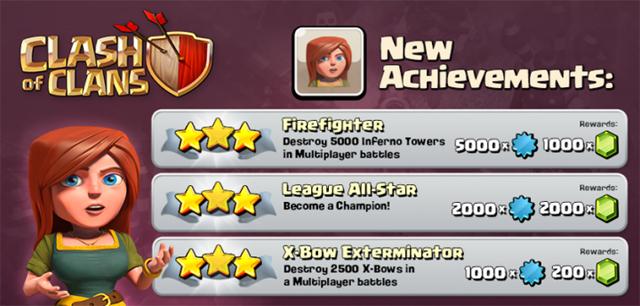 Clash of Clans Achievements
