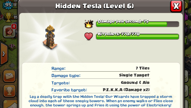 Clash of Clans Hidden Tesla