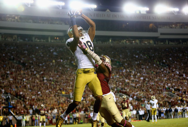 Corey Robinson touchdown,  David Robinson son Notre Dame