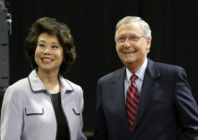 Elaine Chao, Mitch McConnell, McConnell Senate