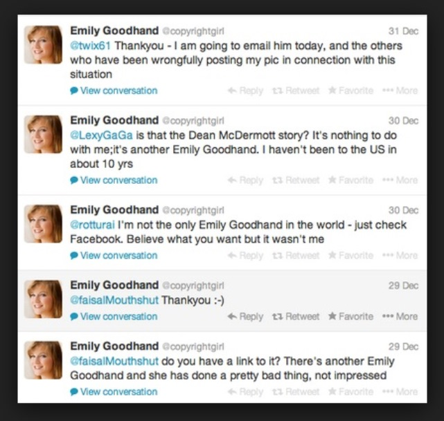 Emily Goodhand, Emily Goodhand Dean McDermott, Dean McDermott Mistress, Dean McDermott Emily Goodhand, Dean McDermott Cheating, Dean McDermott Affair, Dean McDermott Tori Spelling Cheating, True Tori, Emily Goodhand Picture, Emily Goodhand Photo
