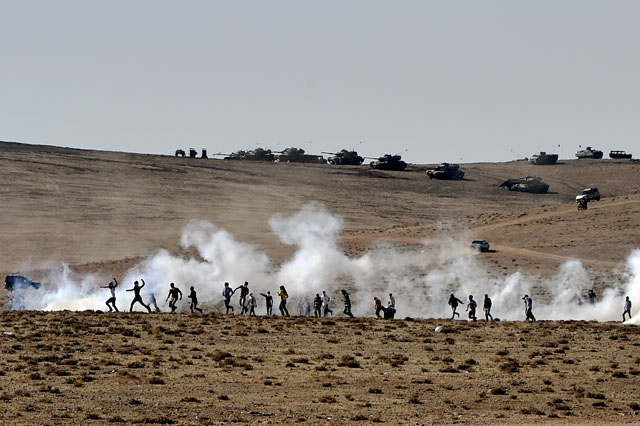 Turkey, Syria, Kobani, Turkish soliders vs. Kurds