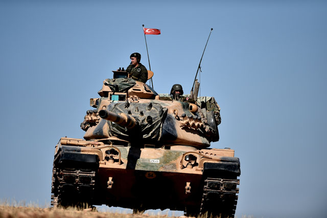Kobani, Syria, Turkish army, Turkey tanks