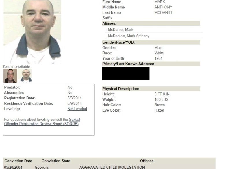 mark mcdaniel georgia sex offender in Québec