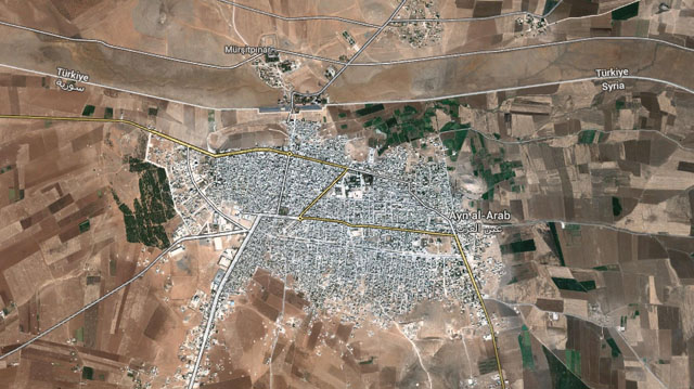 Map of Kobani, Syria