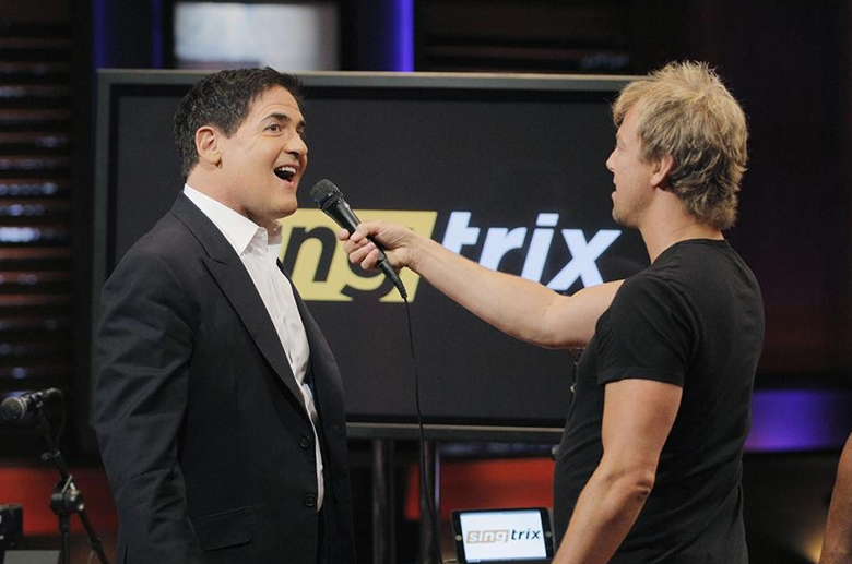 mark cuban shark tank, mark singing on shark tank