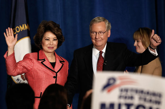Mitch McConnell, Elaine Chao, Mitch McConnell wife
