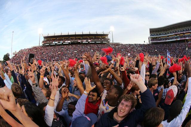 Ole Miss fans celebrate win over Alabama