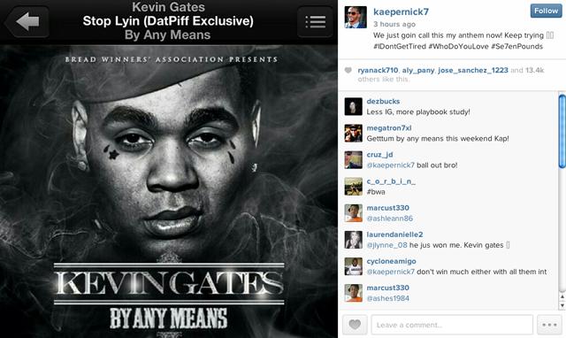 Colin Kaepernick Instagram Stop Lyin'