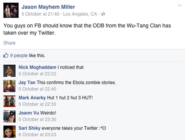 Jason Mayhem Miller Facebook
