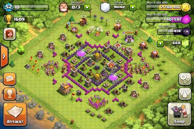 Clash Of Clans Builder Best Town Hall 7 Layouts Heavy Com