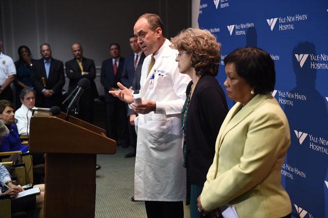 Thomas Valcezak, Toni Harp, Yale ebola scare