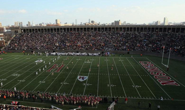 Harvard Stadium in Cambridge, Mass., the site of Saturday's 131st Yale-Harvard game. (Getty)