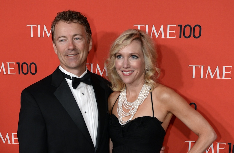 Rand Paul,  United States Senator for Kentucky, and wife Kelley . (Getty)