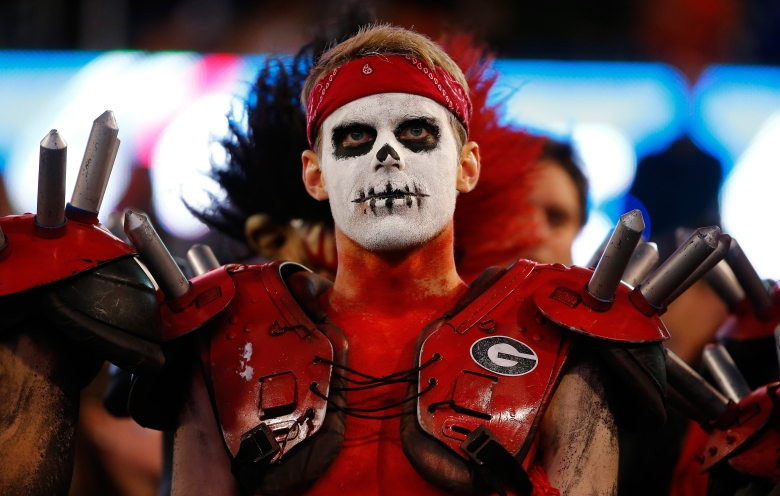 This Georgia fan had nothing to cheer about Saturday (GETTY)