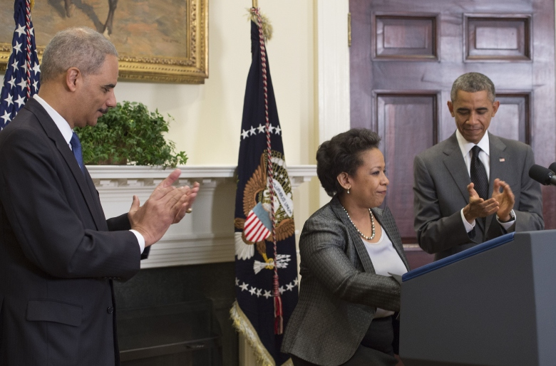 Loretta Lynch, Eric Holder
