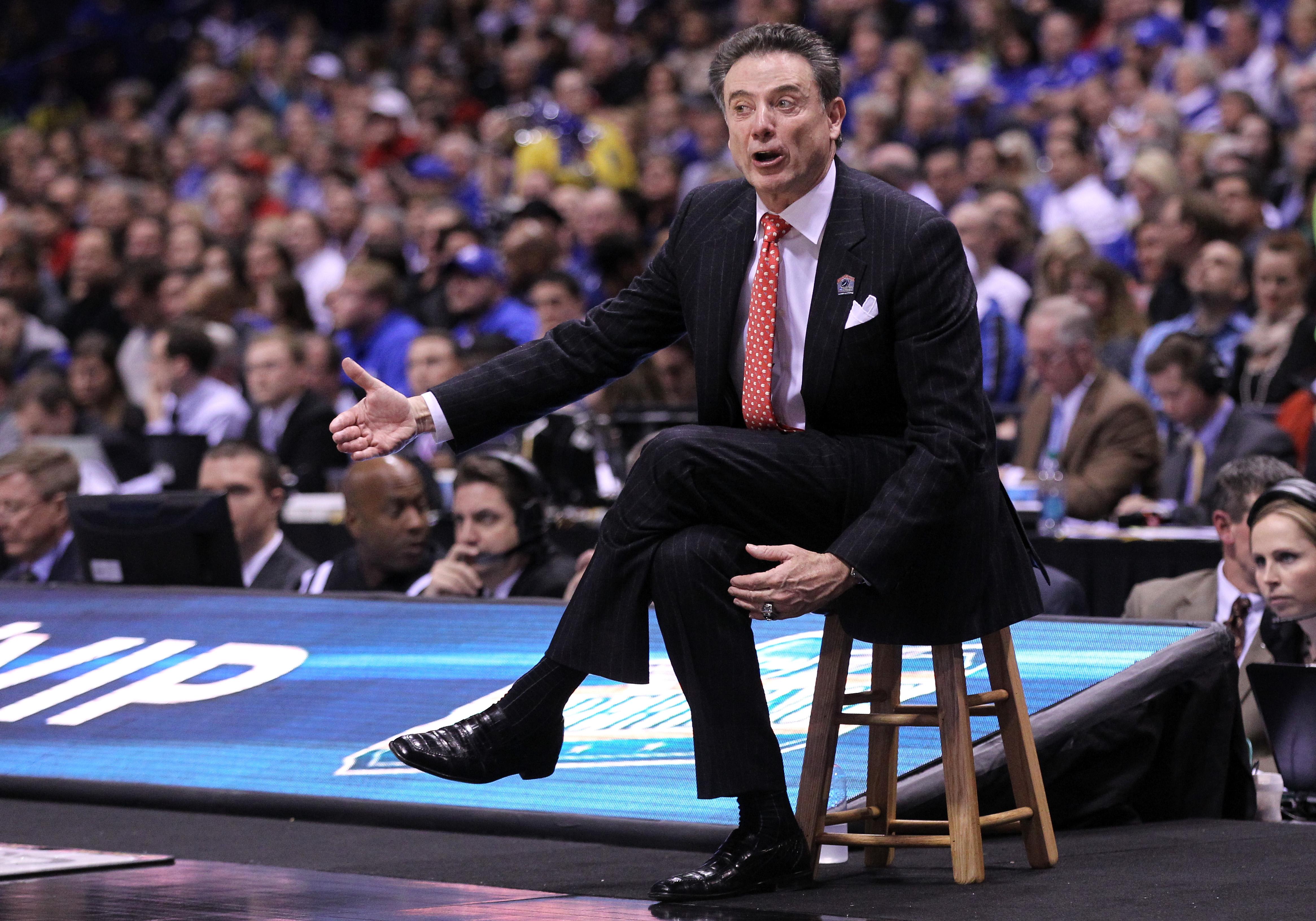 Louisville head coach Rick Pitino. (Getty)