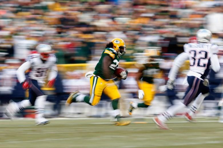 Eddie Lacy, Packers vs. Patriots
