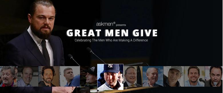 ask men, great men give, most charitable celebrity men