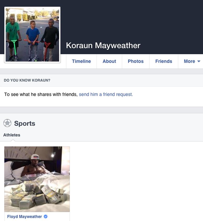 Floyd Mayweather Josie Harris Facebook