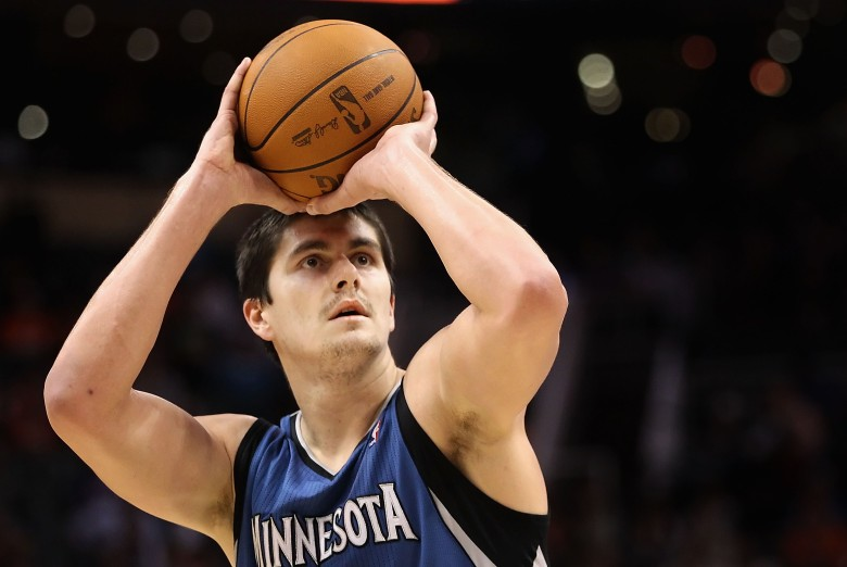 Darko Milicic played for Detroit, Orlando, Memphis, New York, Minnesota and Boston in his NBA career. (Getty)