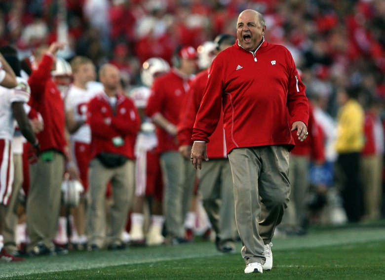 Former coach and current Athletics Director Barry Alvarez will coach Wisconsin in the Outback Bowl. (Getty)