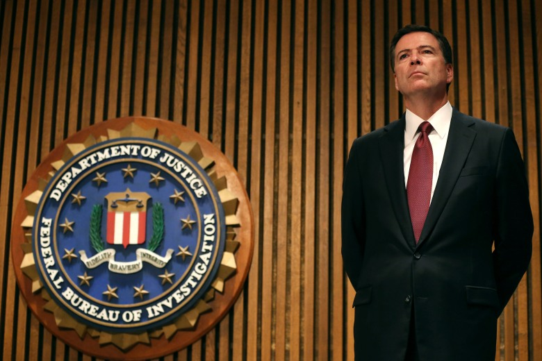 FBI Director James Comey participates in a news conference at FBI headquarters, June 23, 2014 in Washington, DC. (Getty)