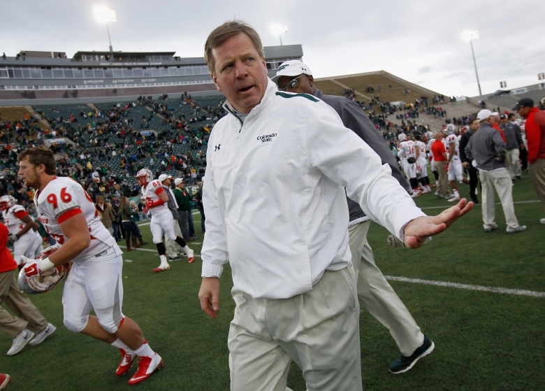 Jim McElwain has agreed to leave Colorado State to become the next head coach at Florida. (Getty)