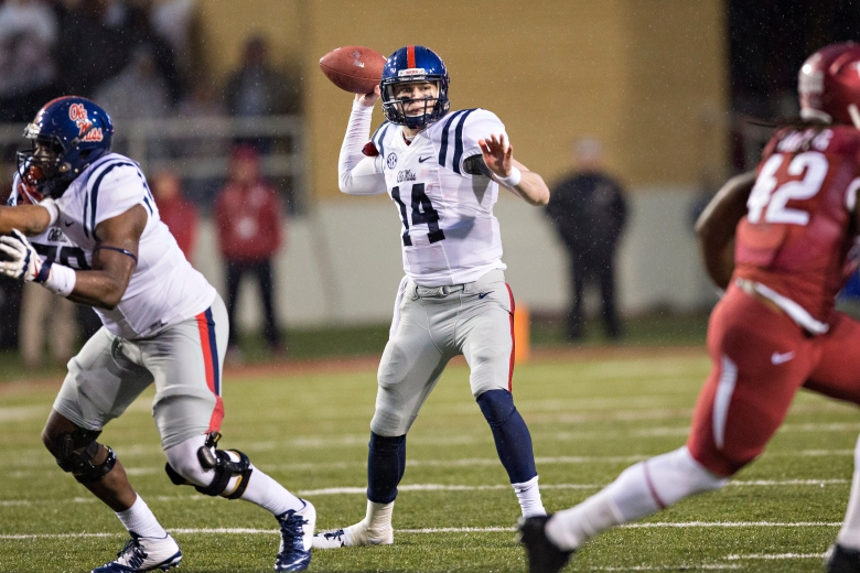 Ole MIss' Bo Wallace threw for 3,085 yards this season.