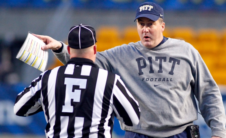 Pitt's Paul Chryst is reportedly set to become the next head coach at Wisconsin. (Getty)