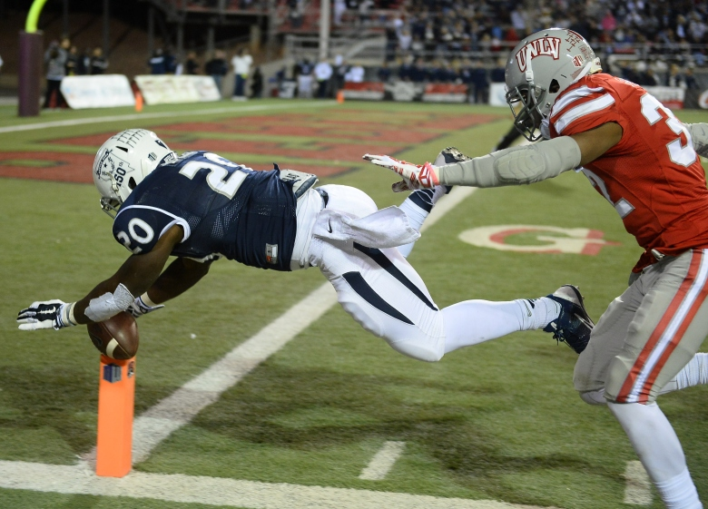 James Butler (20) and Nevada face Louisiana-Lafayette in the New Orleans Bowl. (Getty)