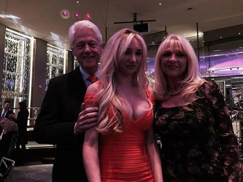 Bill Clinton and Andrea Catsimatidis and Margo Catsimatidis