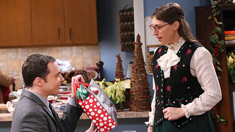 amy and sheldon, shamy, big bang theory christmas