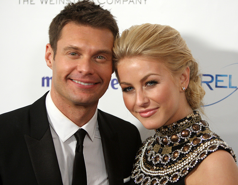 julianne hough and ryan seacrest, ryan seacrest girlfriends