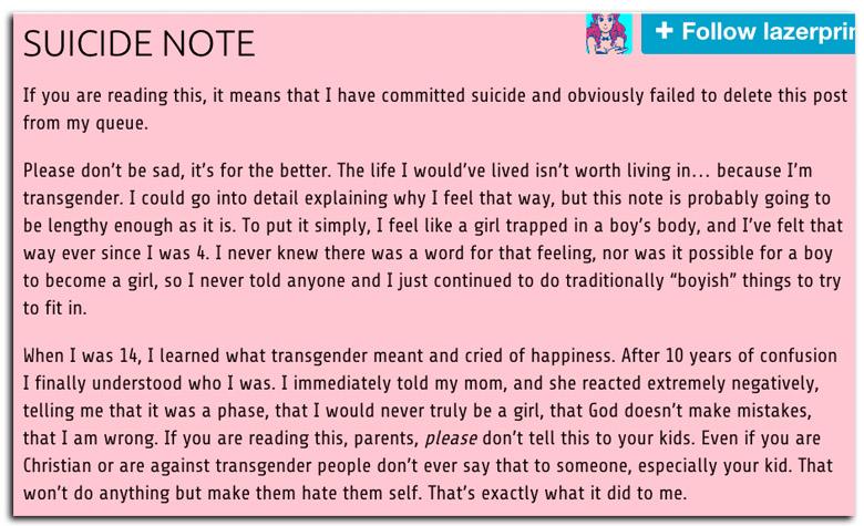 leelah alcorn suicide note, leelah alcorn tumblr, joshua alcorn suicide