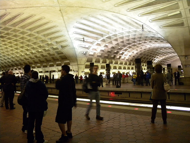L'Enfant plaza is one of the busiest in D.C.'s metro system. (Wikipedia)