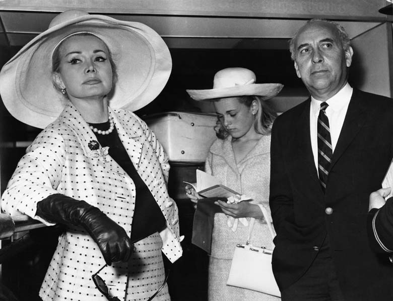 Francesca pictured with her mother and stepfather, Herbert Hunter, in 1965. (Getty)