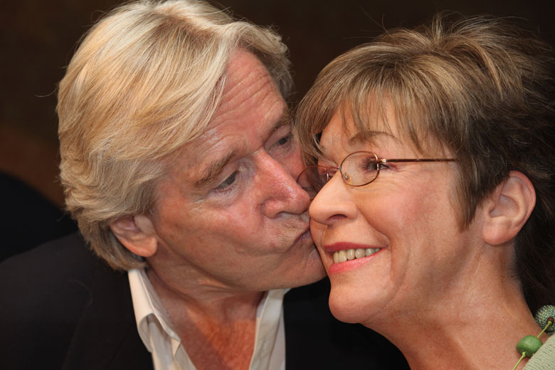 Kirkbride pictured with her on-screen husband William Roache. (Getty)