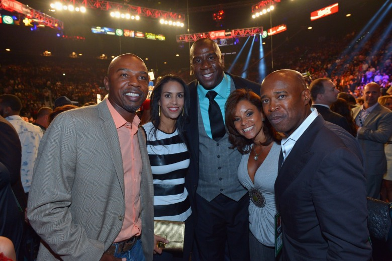 Greg Anthony, left, and wife Chere, second from left. (Getty)