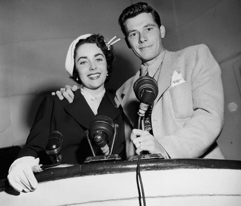 Francesca Hilton's father, Conrad Hilton, pictured during his marriage to Elizabeth Taylor in 1950. (Getty)
