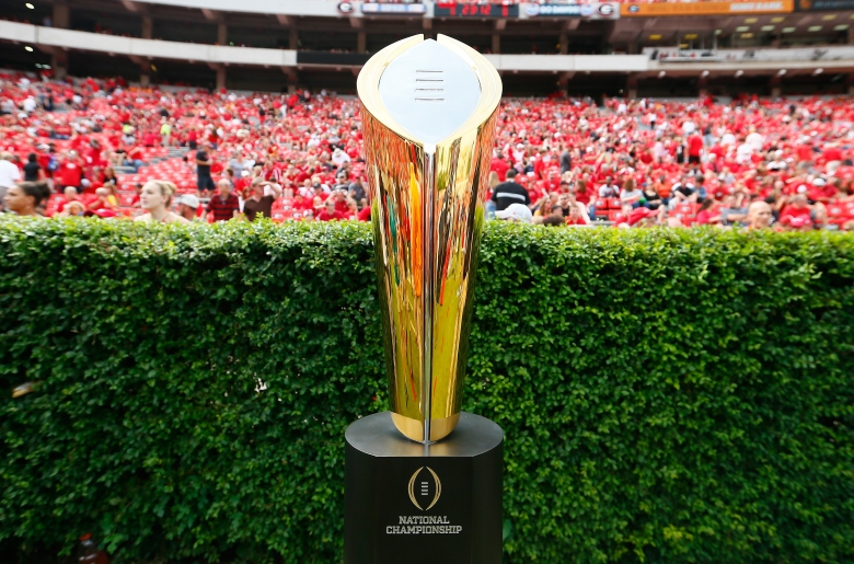 Oregon and Ohio State meet Monday night in the inaugural championship game of the College Football Playoffs. (Getty)