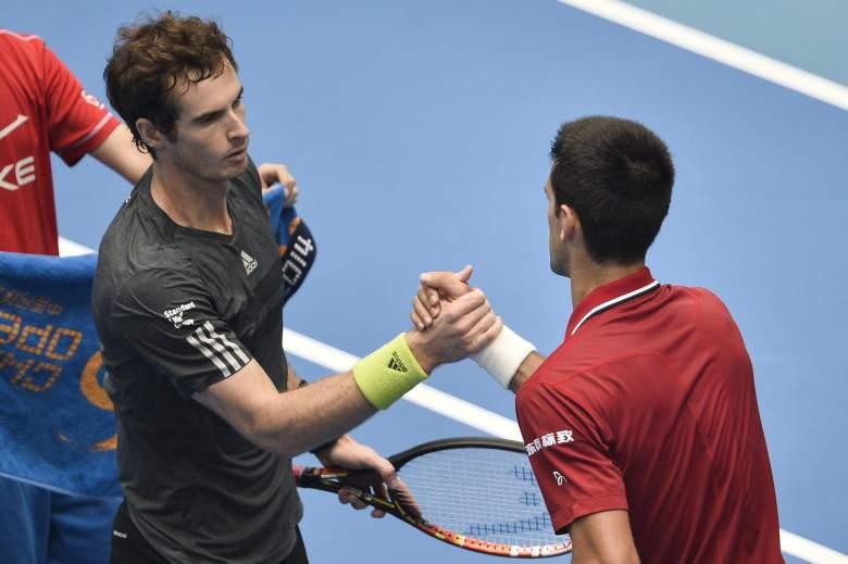 Andy Murray, left, and Novak Djokovic meet in the Australian Open Final. (Getty)