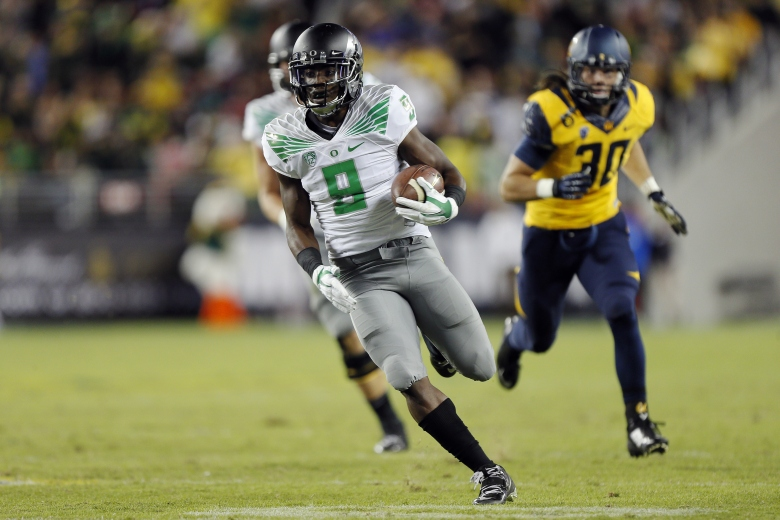 Byron Marshall leads Oregon with 66 receptions. (Getty)