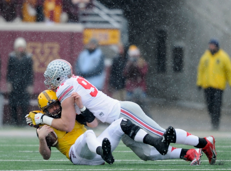 All-America defensive end Joey Bosa has 13.5 sacks for Ohio State. (Getty)